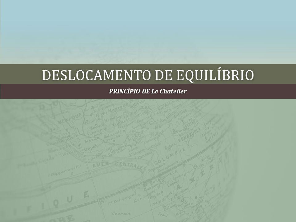 DESLOCAMENTO DE EQUILÍBRIODESLOCAMENTO DE EQUILÍBRIO PRINCÍPIO DE Le ChatelierPRINCÍPIO DE Le Chatelier