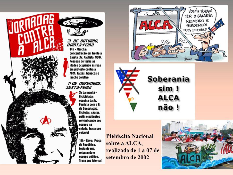 Plebiscito Nacional sobre a ALCA, realizado de 1 a 07 de setembro de 2002