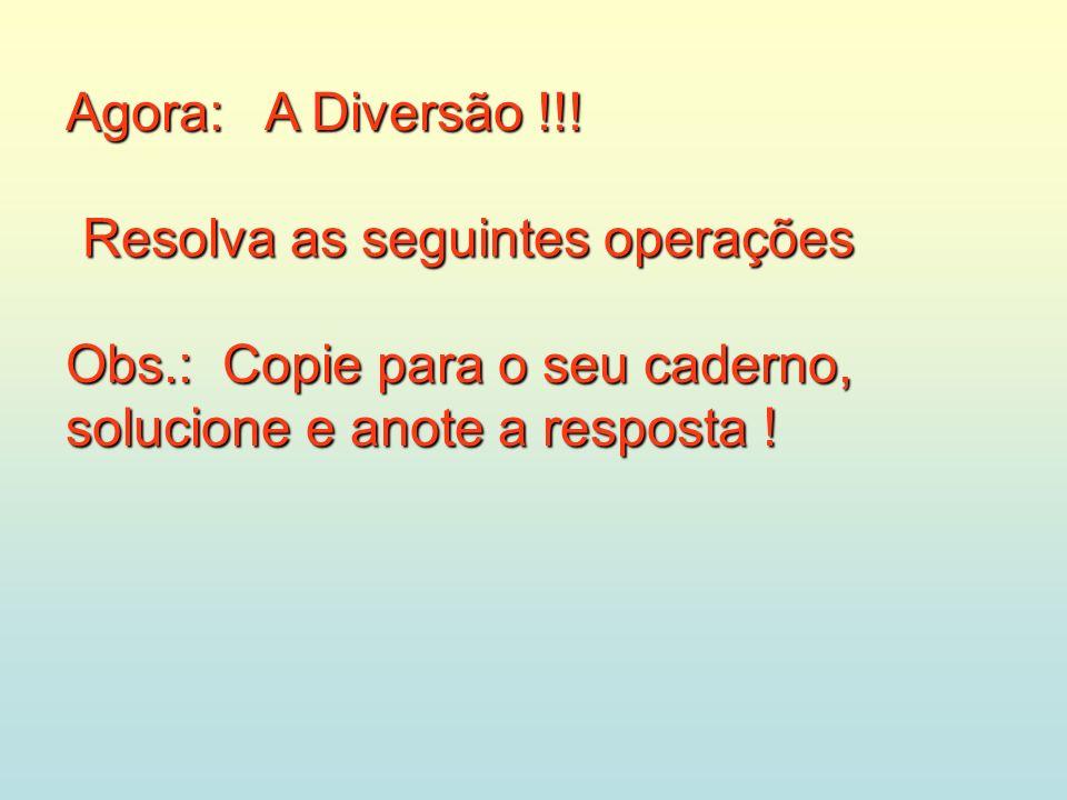 Agora: A Diversão !!.