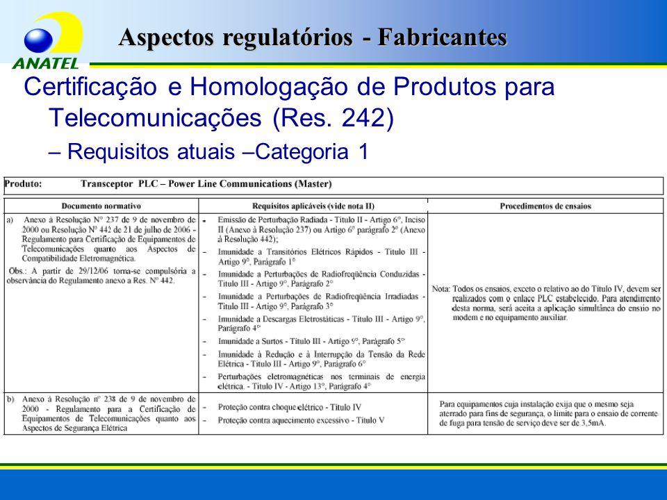 Certificação e Homologação de Produtos para Telecomunicações (Res.