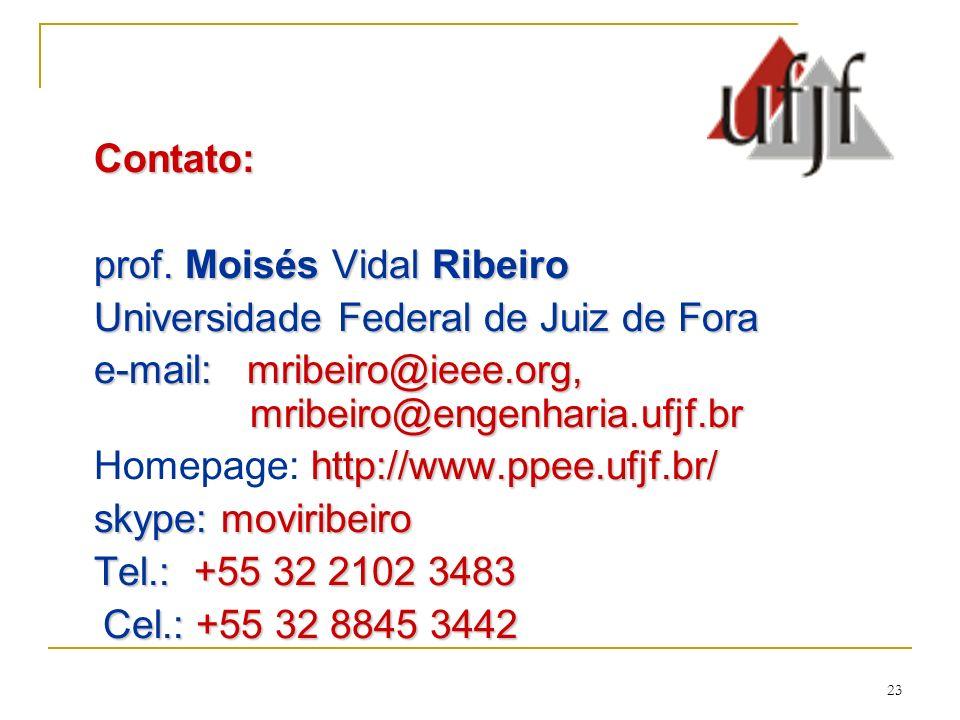 23 Contato: prof.Moisés Vidal Ribeiro prof.