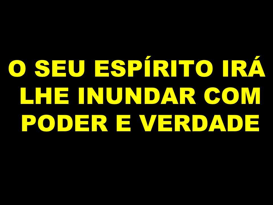 O SEU ESPÍRITO IRÁ LHE INUNDAR COM PODER E VERDADE