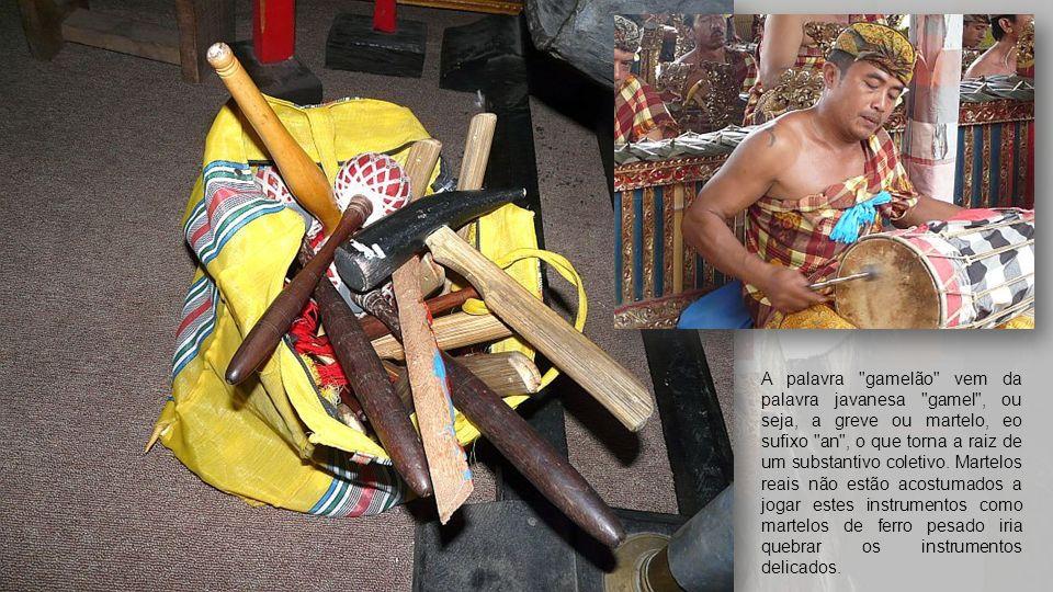 O papel de gamelão em rituais é tão importante que há um ditado que javanês
