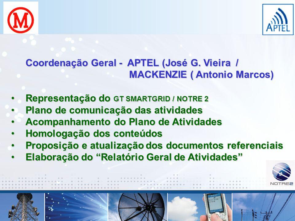 Paulo Roberto de Souza Pimentel Diretor do Fórum Aptel PLC 16/09/2008 paulo.pimentel@aptel.com.br GT Smart Grid / NOTRE 2