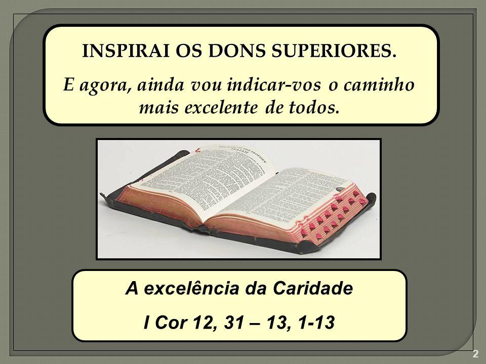 1 FORMAÇÃO CONTINUADA MÓDULO DONS E CARISMAS HINO AO AMOR A Excelência da Caridade FCDC - 001