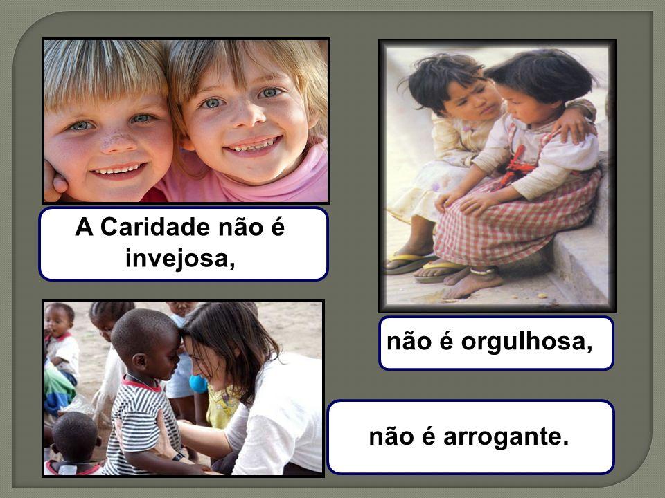 A Caridade não é invejosa, não é orgulhosa, não é arrogante.