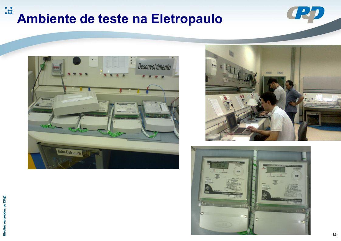 14 Ambiente de teste na Eletropaulo