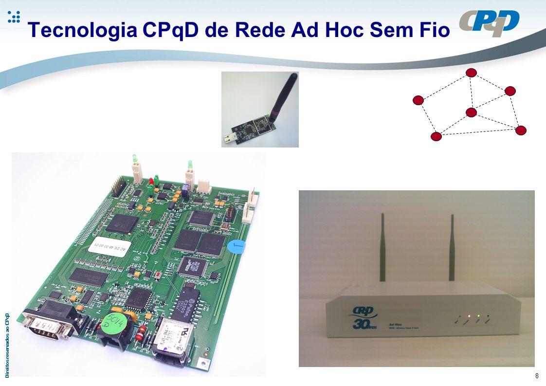 9 Configuração da Prova de Conceito OBJETIVO: Verificação de compatibilidade com os sistemas de medição existentes Teste de Roteamento da rede Ad hoc