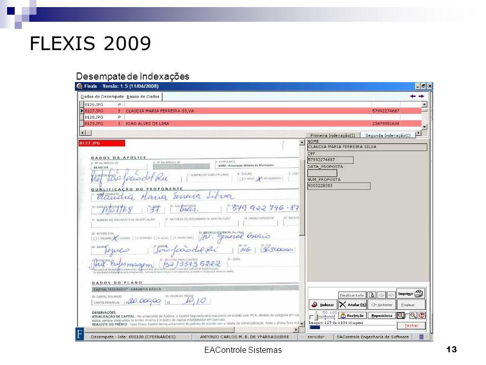 EAControle Sistemas13 FLEXIS 2009 Desempate de Indexações
