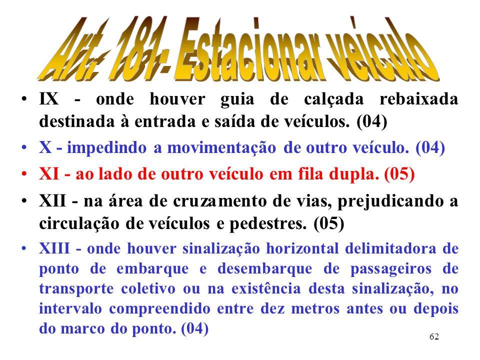 61 VI - junto ou sobre hidrantes de incêndio, registro de água ou tampa de poços de visita de galerias subterrânea, desde que devidamente identificado
