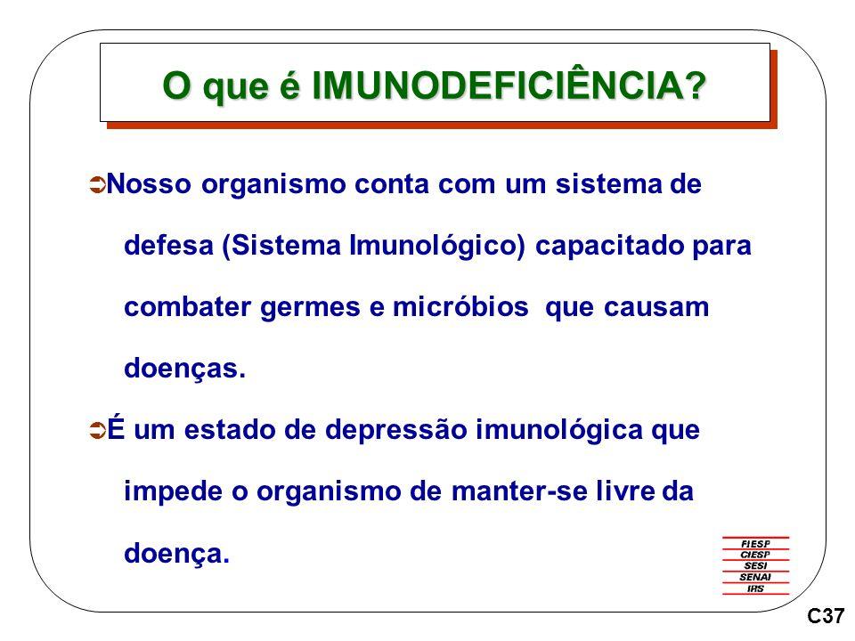 Nosso organismo conta com um sistema de defesa (Sistema Imunológico) capacitado para combater germes e micróbios que causam doenças. É um estado de de