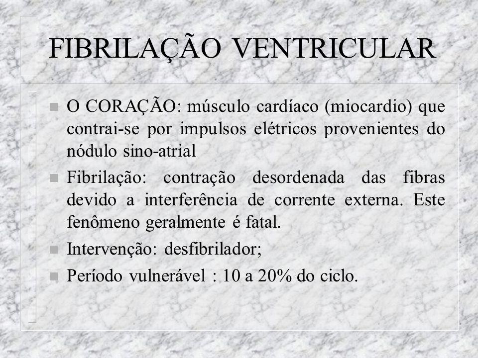 FIBRILAÇÃO VENTRICULAR n O CORAÇÃO: músculo cardíaco (miocardio) que contrai-se por impulsos elétricos provenientes do nódulo sino-atrial n Fibrilação