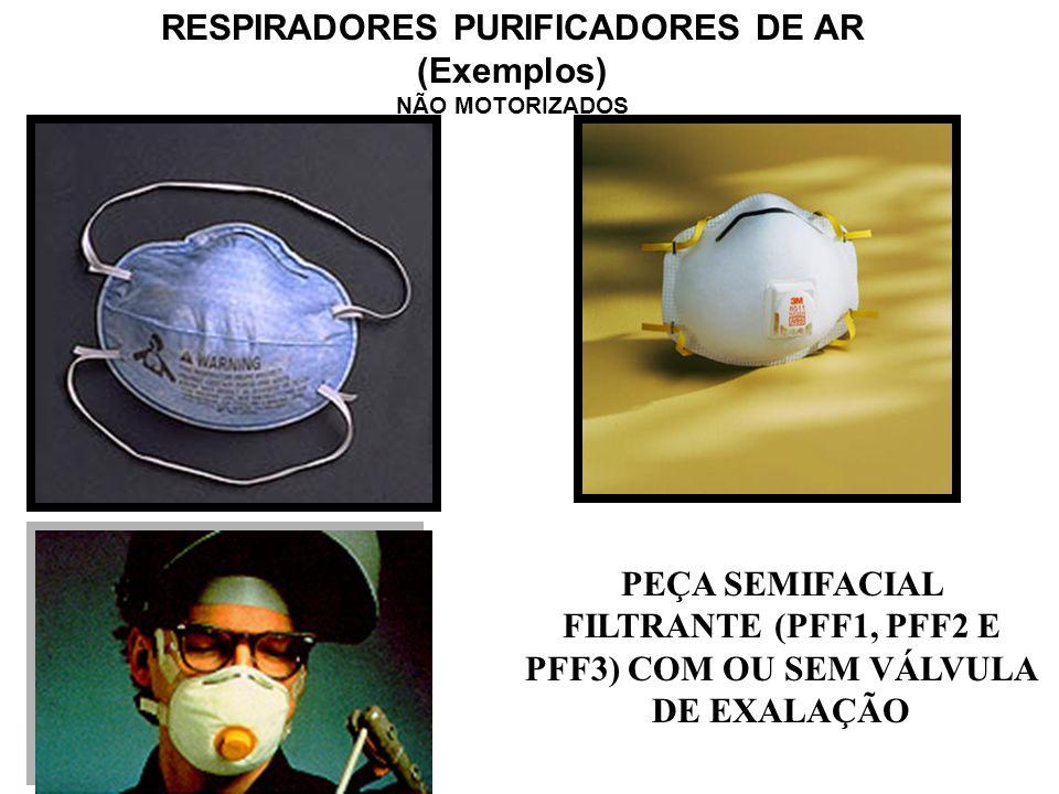 CLASSIFICAÇÃO DOS EQUIPAMENTOS DE PROTEÇÃO RESPIRATÓRIA PeçaFacial Filtrante e Fuga Com Filtro Químicoe Com Filtro Mecânico Com Filtro Combinado Não M