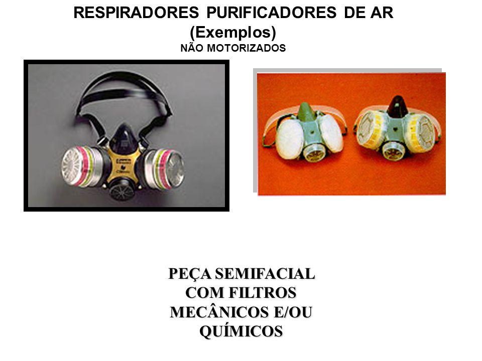 RESPIRADORES PURIFICADORES DE AR (Exemplos) NÃO MOTORIZADOS PEÇA SEMIFACIAL FILTRANTE (PFF1, PFF2 E PFF3) COM OU SEM VÁLVULA DE EXALAÇÃO