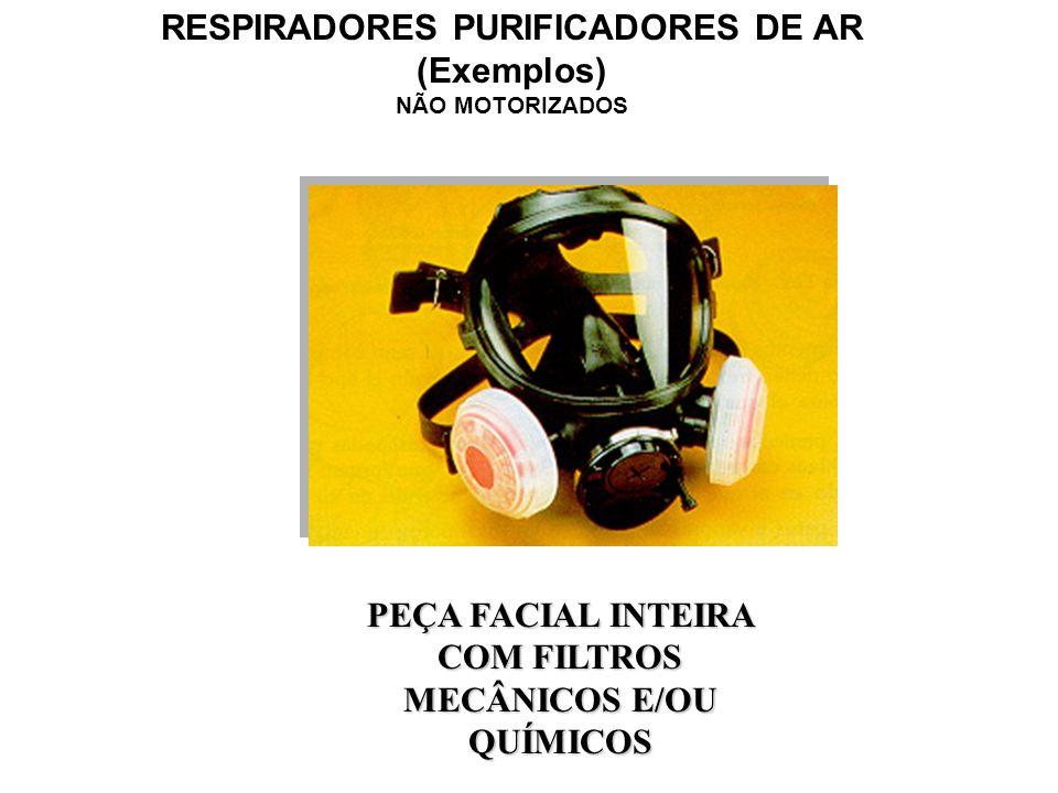 RESPIRADORES PURIFICADORES DE AR (Exemplos) NÃO MOTORIZADOS PEÇA SEMIFACIAL COM FILTROS MECÂNICOS E/OU QUÍMICOS