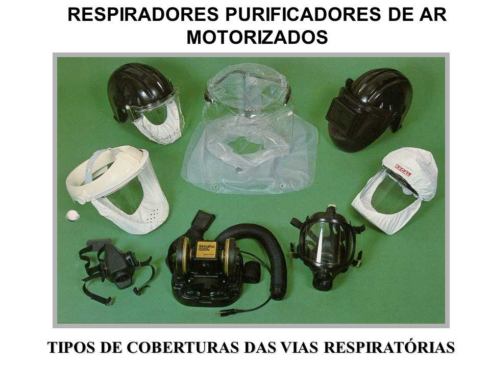 RESPIRADORES PURIFICADORES DE AR (Exemplos) NÃO MOTORIZADOS PEÇA FACIAL INTEIRA COM FILTROS MECÂNICOS E/OU QUÍMICOS