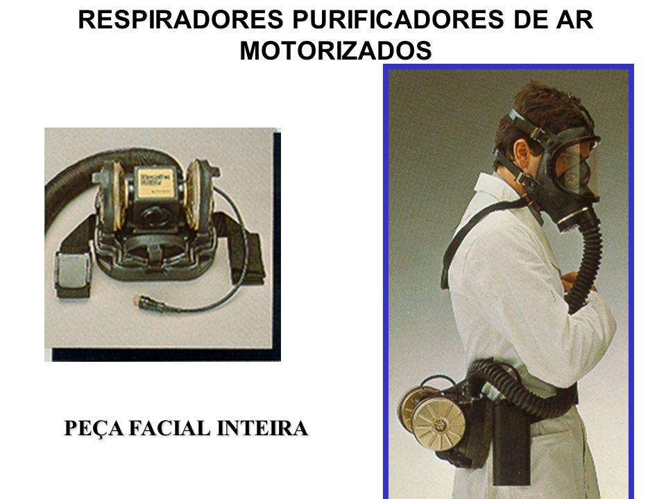 RESPIRADORES PURIFICADORES DE AR MOTORIZADOS TIPOS DE COBERTURAS DAS VIAS RESPIRATÓRIAS