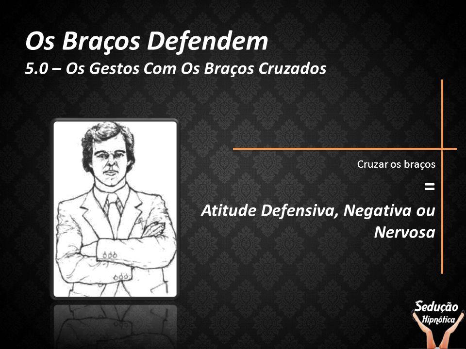 Os Braços Defendem 5.0 – Os Gestos Com Os Braços Cruzados Cruzar os braços = Atitude Defensiva, Negativa ou Nervosa