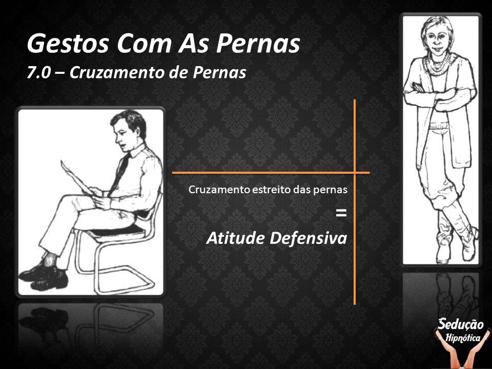 Gestos Com As Pernas 7.0 – Cruzamento de Pernas Cruzamento estreito das pernas = Atitude Defensiva