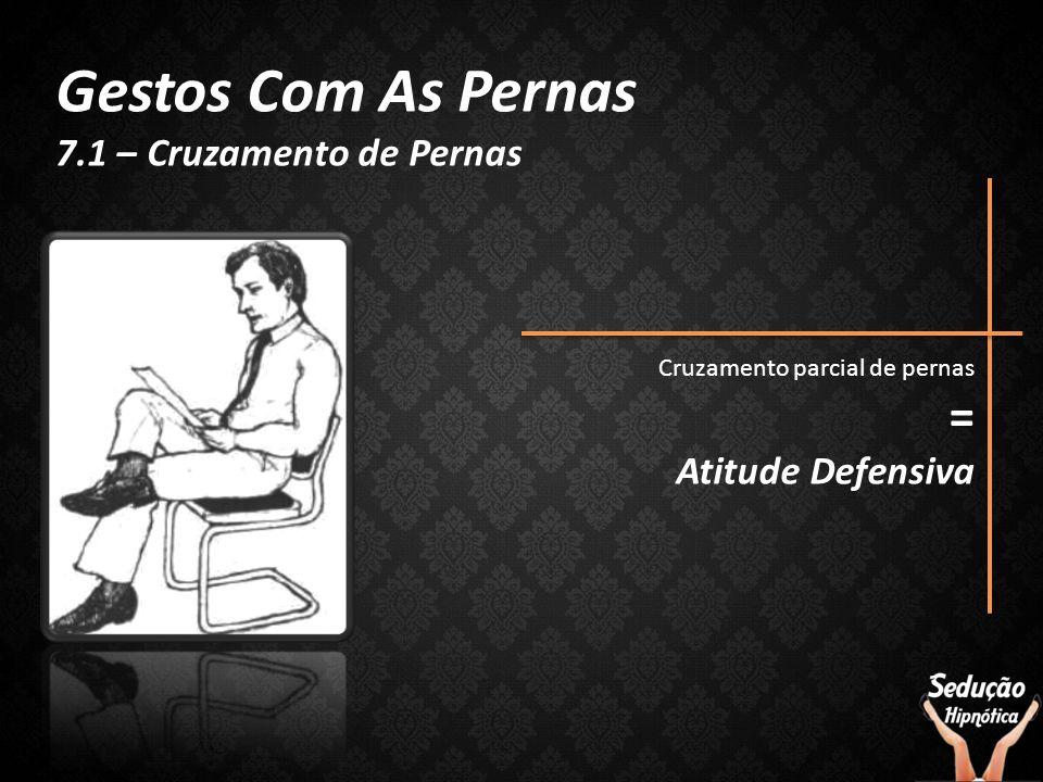 Gestos Com As Pernas 7.1 – Cruzamento de Pernas Cruzamento parcial de pernas = Atitude Defensiva