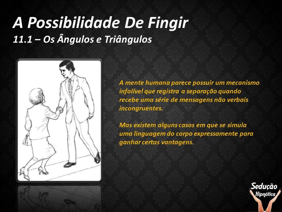 A Possibilidade De Fingir 11.1 – Os Ângulos e Triângulos A mente humana parece possuir um mecanismo infalível que registra a separação quando recebe u