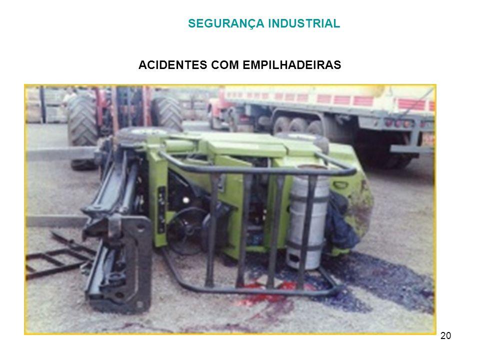 20 SEGURANÇA INDUSTRIAL ACIDENTES COM EMPILHADEIRAS