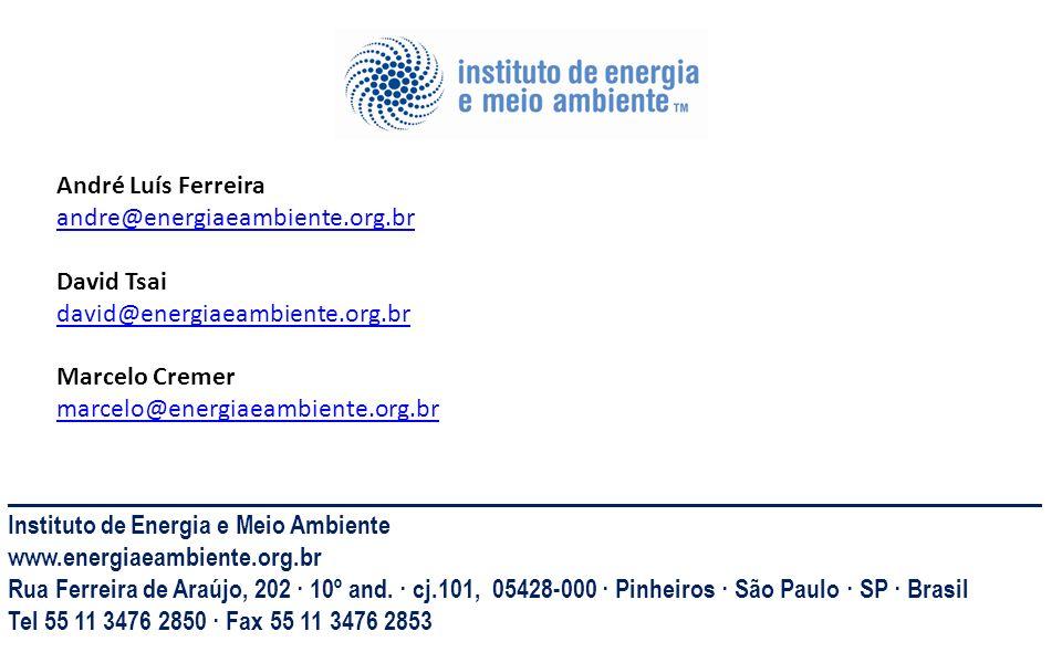 _____________________________________________________________________________________ Instituto de Energia e Meio Ambiente www.energiaeambiente.org.br
