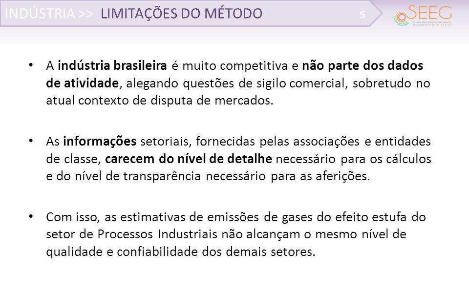 A indústria brasileira é muito competitiva e não parte dos dados de atividade, alegando questões de sigilo comercial, sobretudo no atual contexto de disputa de mercados.