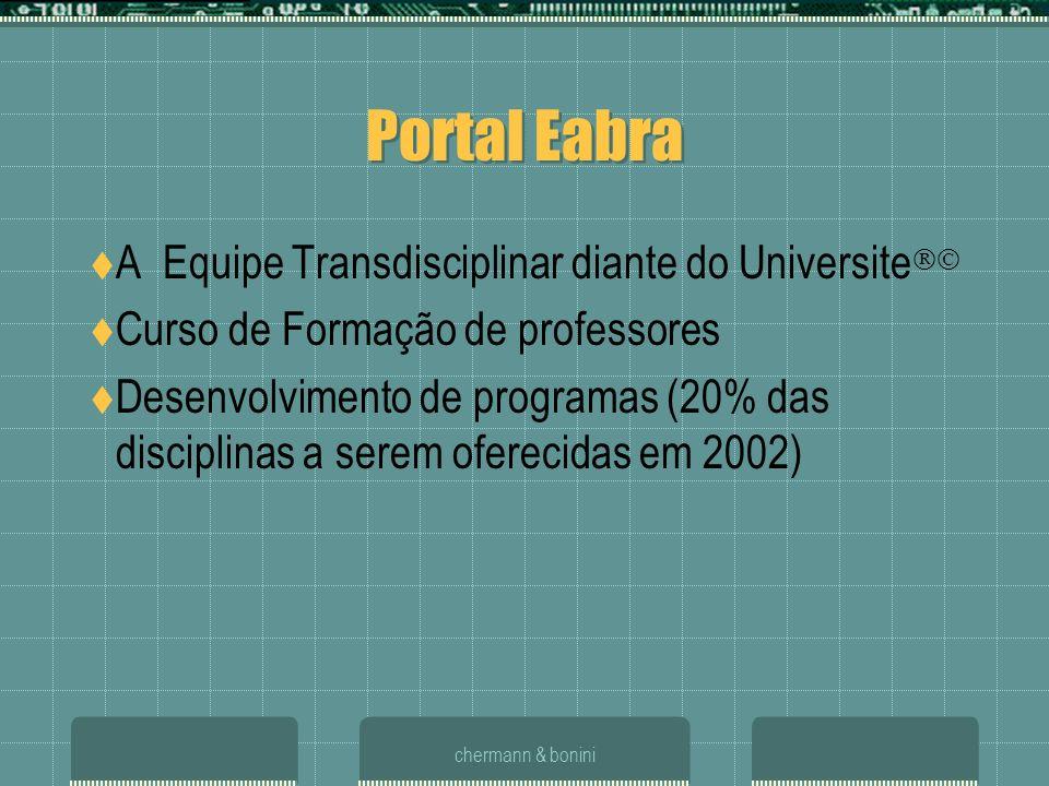 chermann & bonini Portal Eabra A Equipe Transdisciplinar diante do Universite Curso de Formação de professores Desenvolvimento de programas (20% das d