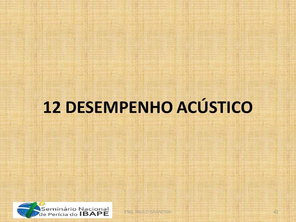 12 DESEMPENHO ACÚSTICO ENG. PAULO GRANDISKI42