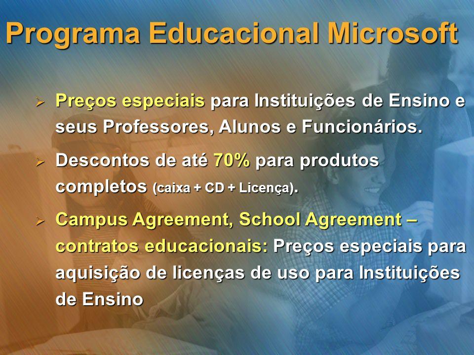 Preços especiais para Instituições de Ensino e seus Professores, Alunos e Funcionários. Preços especiais para Instituições de Ensino e seus Professore