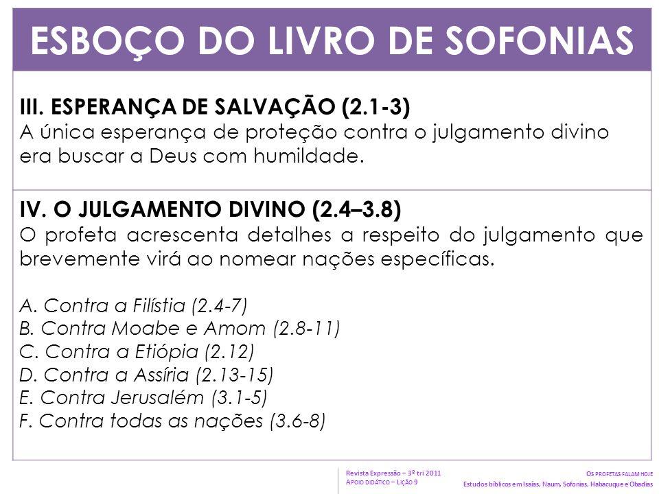 ESBOÇO DO LIVRO DE SOFONIAS V.