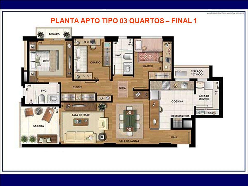 PLANTA APTO TIPO 03 QUARTOS – FINAL 1