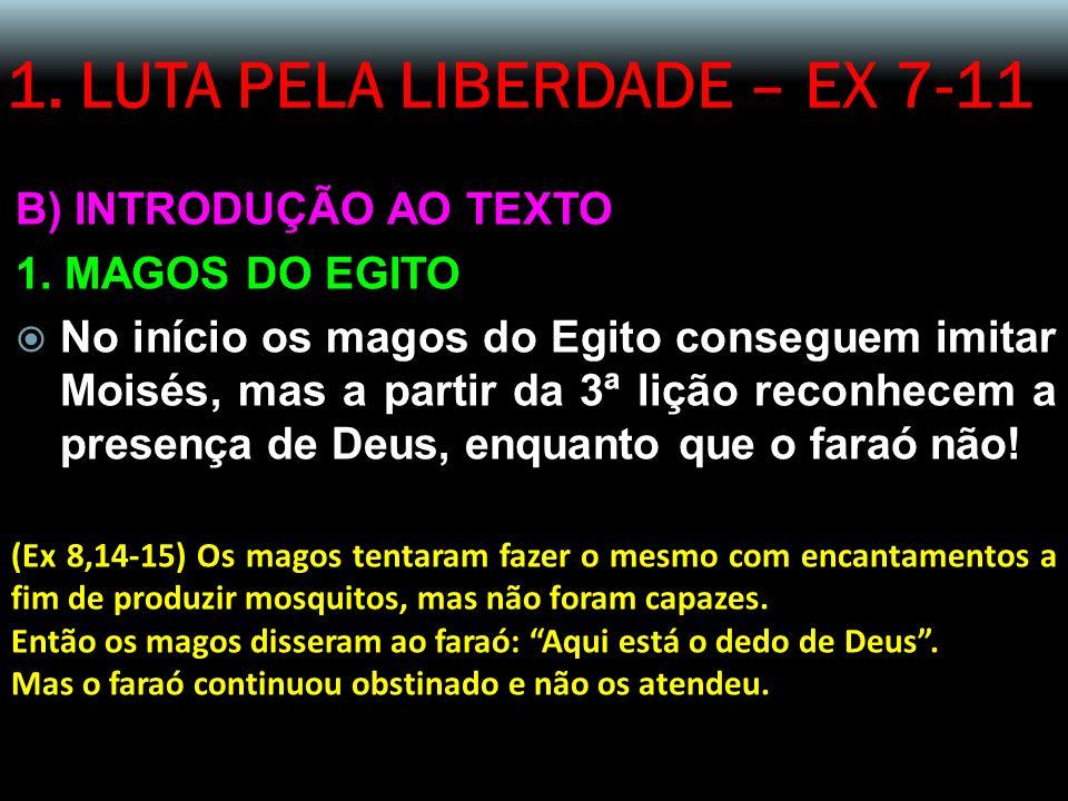 1.LUTA PELA LIBERDADE – EX 7-11 B) INTRODUÇÃO AO TEXTO 1.