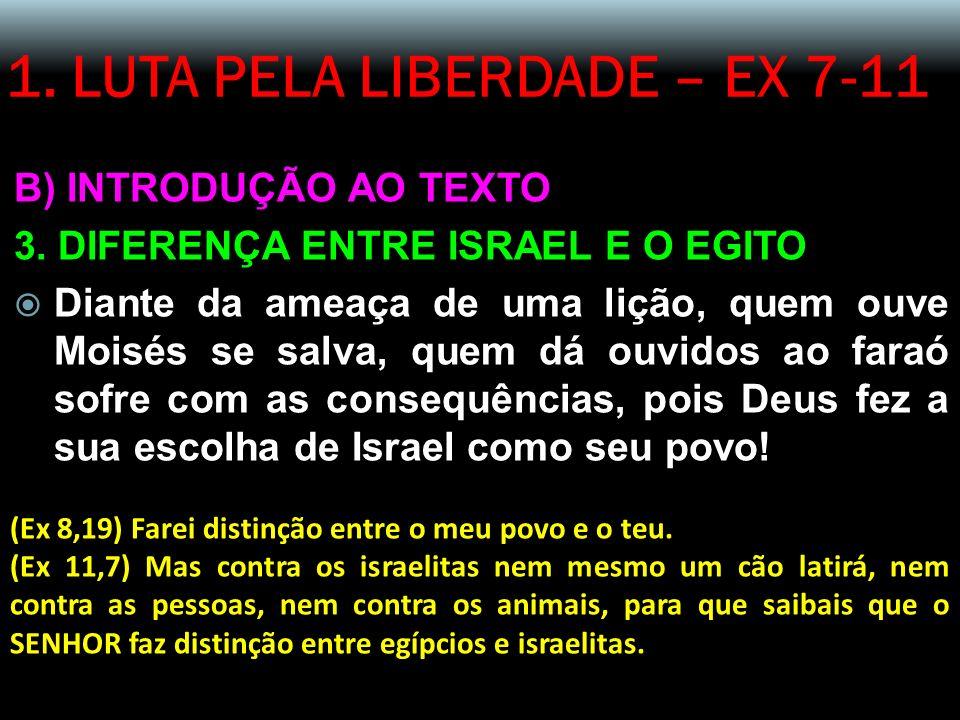 1.LUTA PELA LIBERDADE – EX 7-11 B) INTRODUÇÃO AO TEXTO 3.