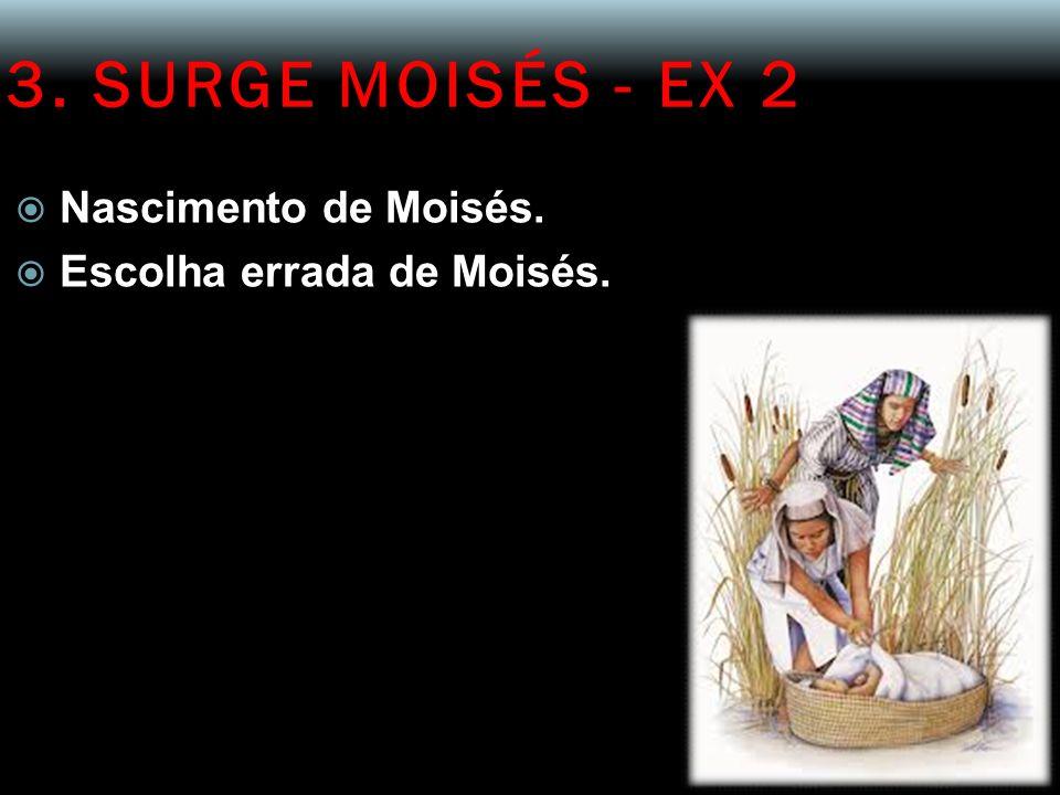 3. SURGE MOISÉS - EX 2 Nascimento de Moisés. Escolha errada de Moisés.