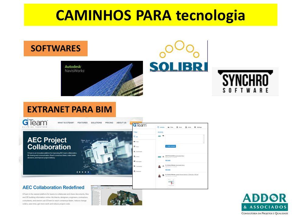 CAMINHOS PARA tecnologia SOFTWARES EXTRANET PARA BIM