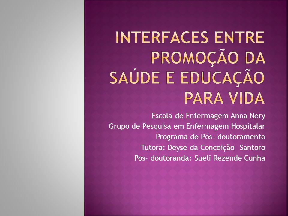 Escola de Enfermagem Anna Nery Grupo de Pesquisa em Enfermagem Hospitalar Programa de Pós- doutoramento Tutora: Deyse da Conceição Santoro Pos- doutor