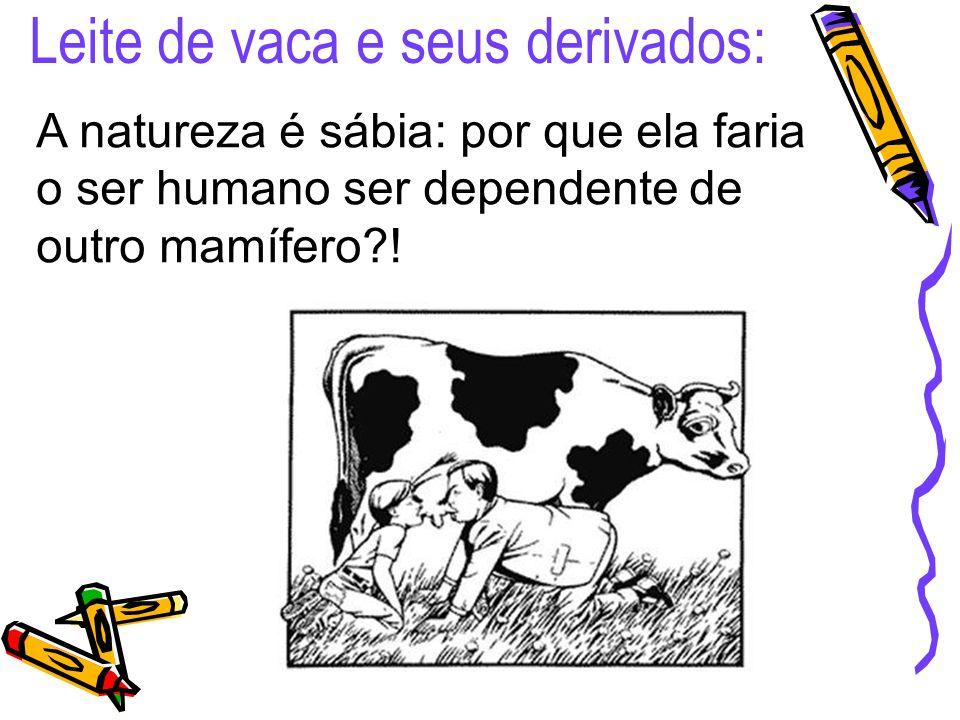 Leite de vaca e seus derivados: A natureza é sábia: por que ela faria o ser humano ser dependente de outro mamífero?!