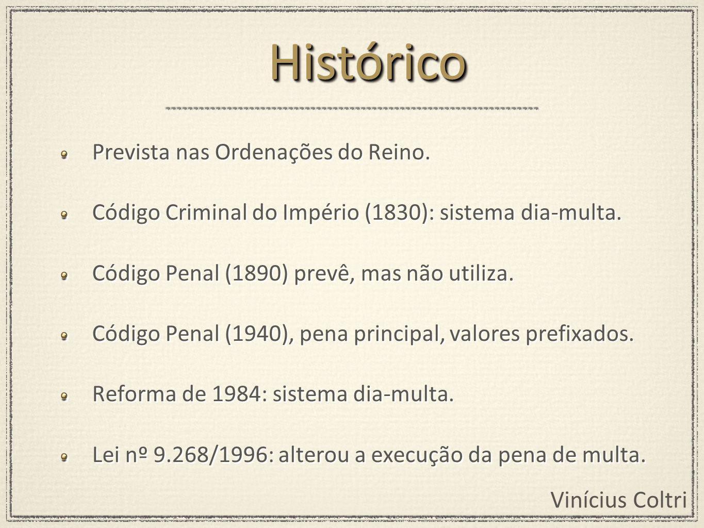 Vinícius Coltri Proíbe/veda: Conversão da pena de prisão, por pena isolada de multa.
