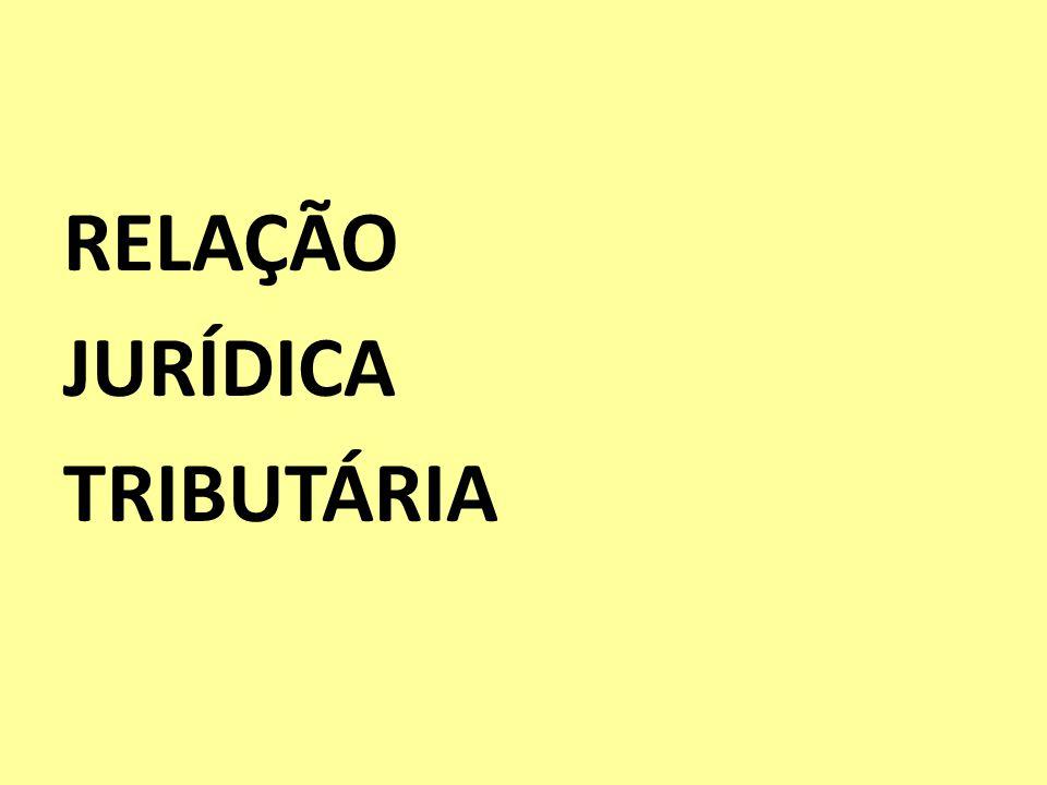 RELAÇÃO JURÍDICA TRIBUTÁRIA