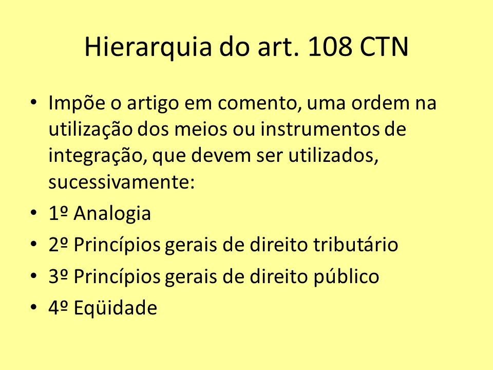Hierarquia do art.