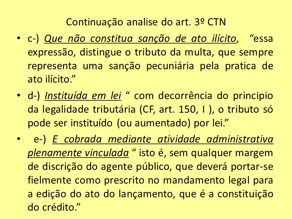 Continuação analise do art.