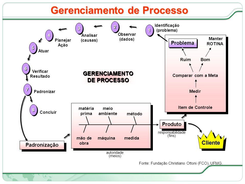 15 de 66 Gerenciamento de Processo Fonte: Fundação Christiano Ottoni (FCO), UFMG.