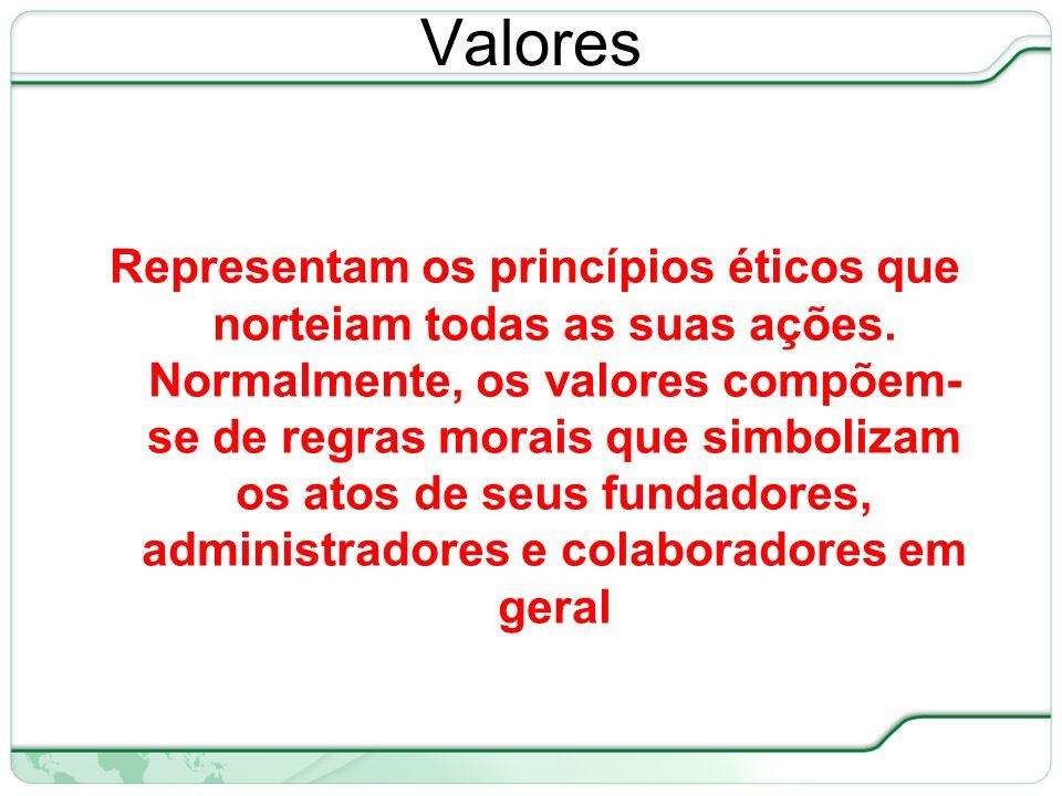 23 de 66 Representam os princípios éticos que norteiam todas as suas ações.