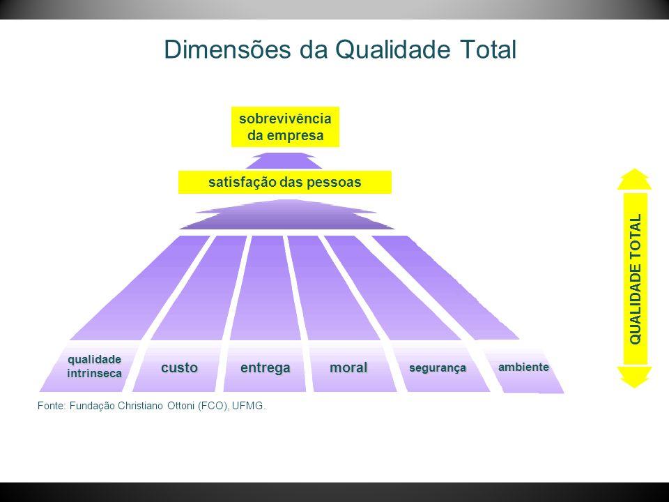 Dimensões da Qualidade Total Fonte: Fundação Christiano Ottoni (FCO), UFMG.