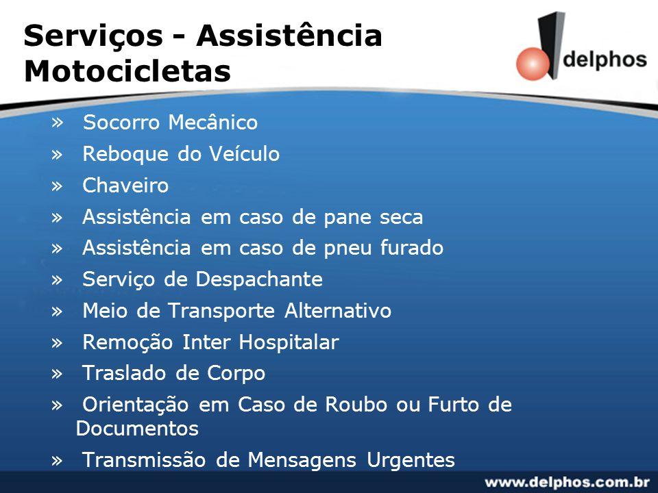 Serviços - Assistência Motocicletas » Socorro Mecânico » Reboque do Veículo » Chaveiro » Assistência em caso de pane seca » Assistência em caso de pne