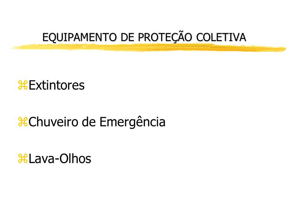 EQUIPAMENTO DE PROTEÇÃO INDIVIDUAL zÓculos de Proteção zProtetor Auricular zProtetor Facial zCalçados fehados zLuvas zMáscaras