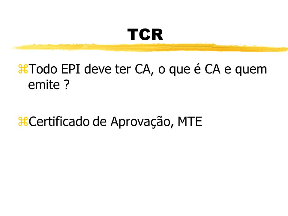 TCR - Training Chain Reaction zPara que serve EPC e cite 3 exemplos .