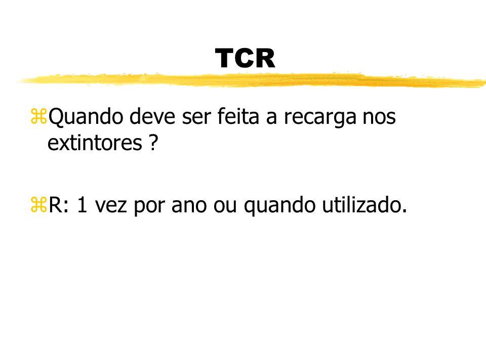 TCR zEm qual classe de incêndio utilizamos o extintor de PQS ? zR: classe B ( éter, gasolina, tinta )